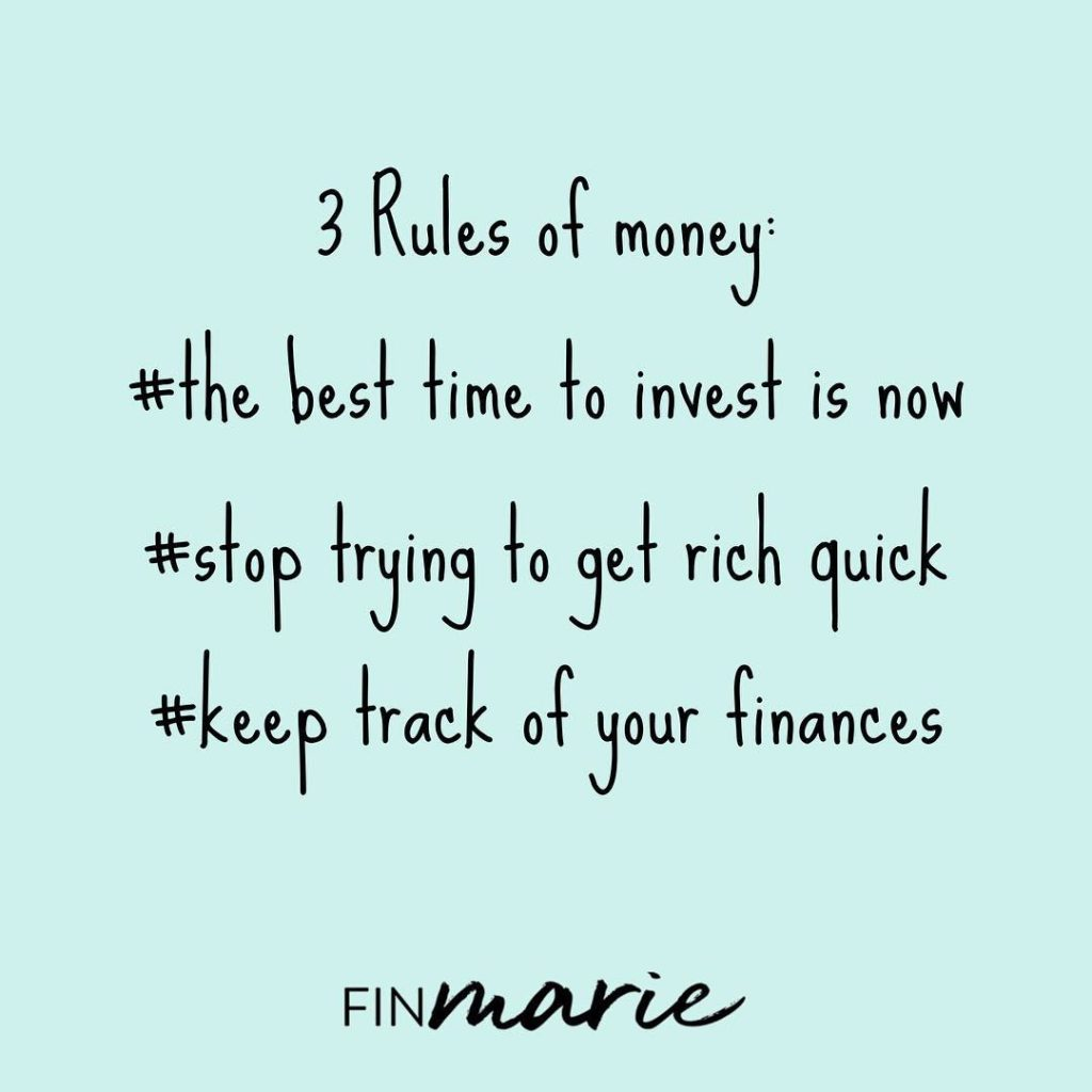 3 rules of money investment from FinMarie