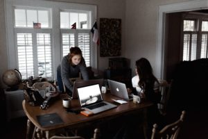 Female Founders working from home office
