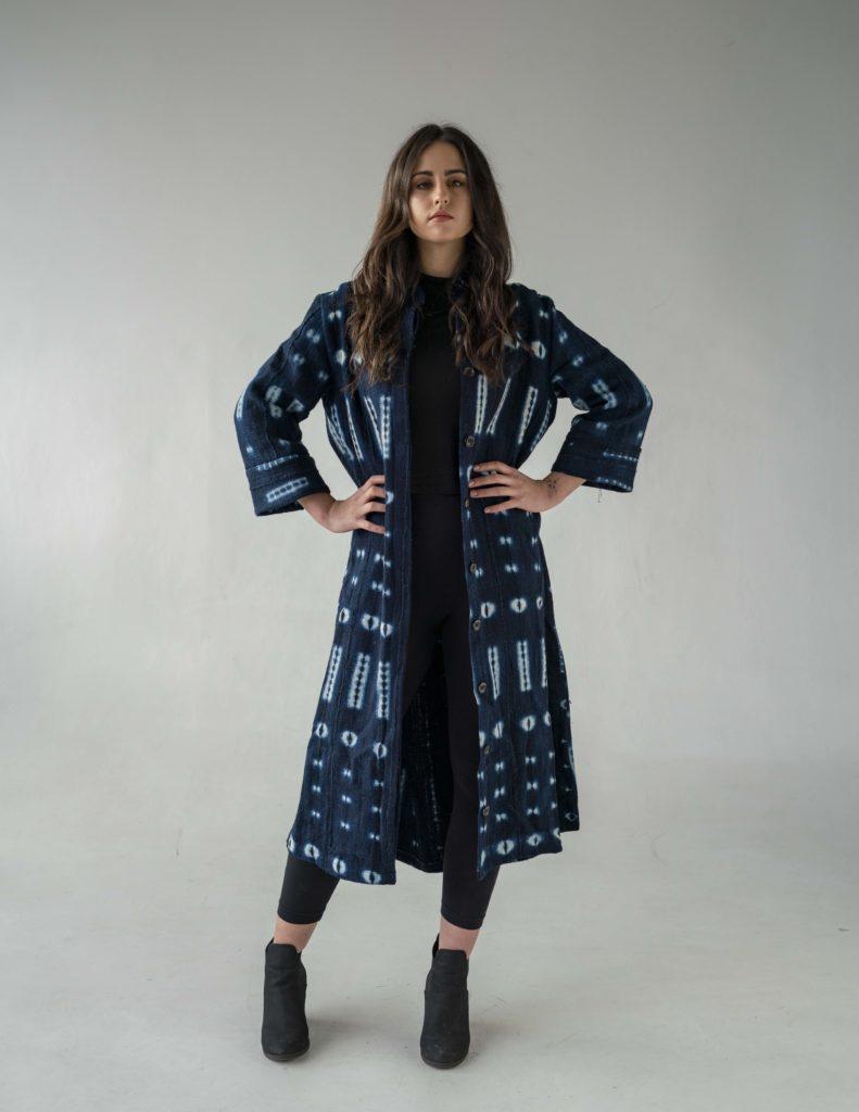Ethical fashion coat Utamu