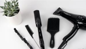 Toti's Salon Tools Laid Out