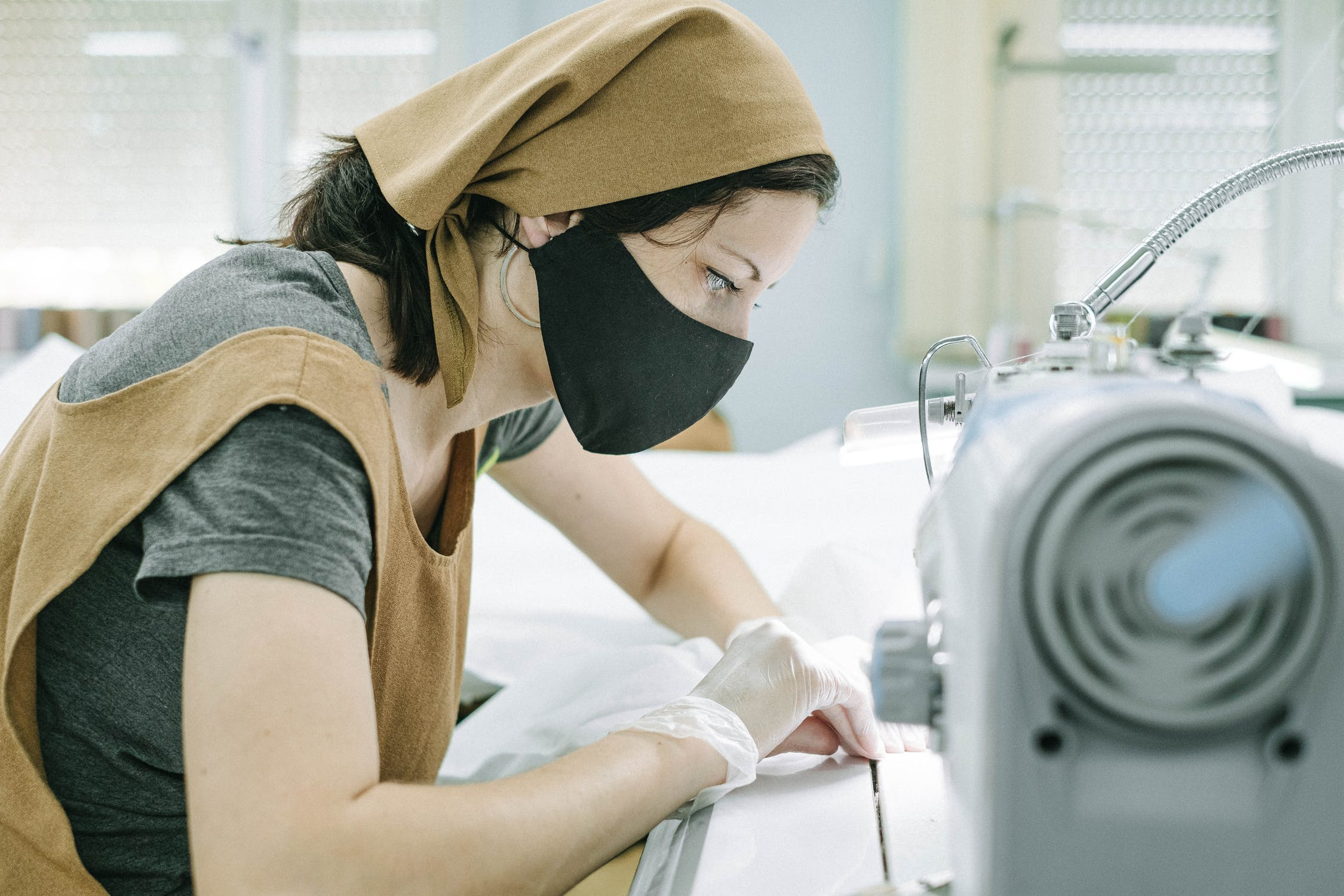Female in business creating products